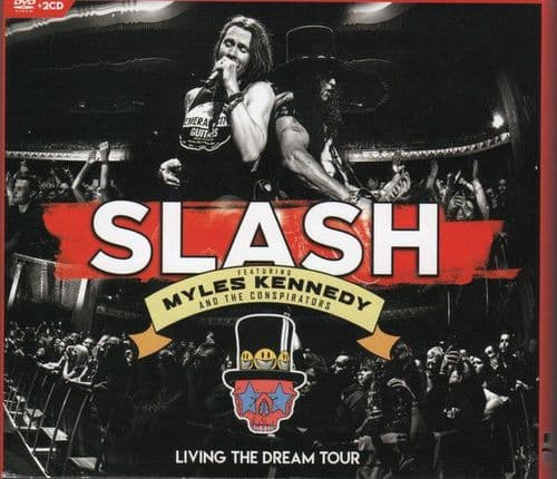 Slash  featuring Myles Kennedy and The Conspirators<br>Living The Dream Tour<br>2CD + DVD, Reg +